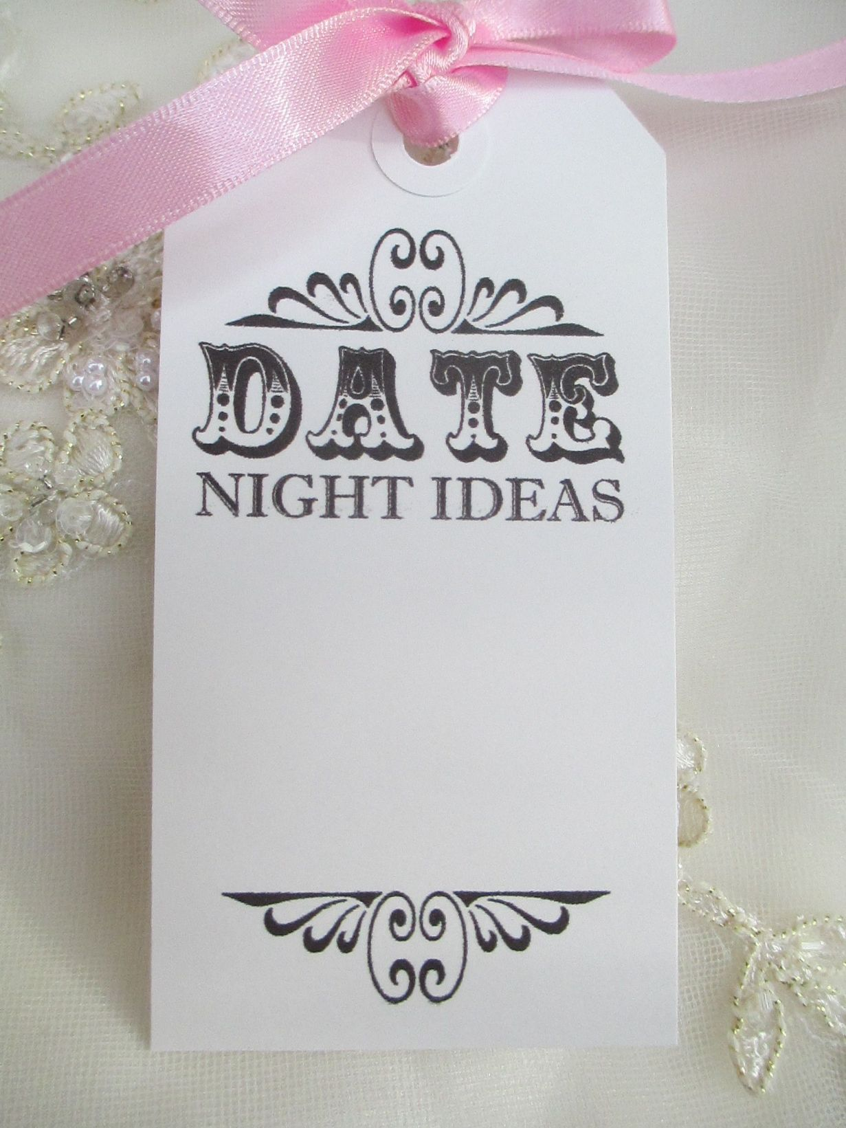 10 Date Night Ideas White Luggage Tags